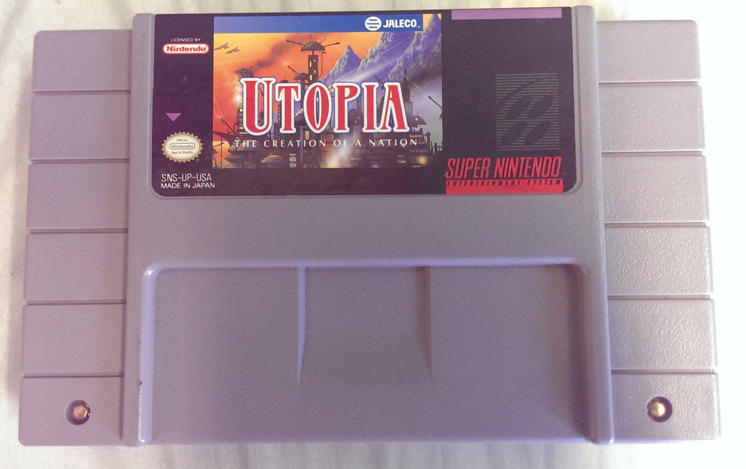 Utopia: The Creation of a Nation - Super Nintendo Entertainment System