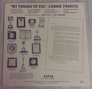 Connie Francis - My Thanks To You
