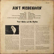"""Fats"" Waller And His Rhythm* ‎– Ain't Misbehavin'"