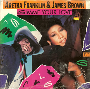 "Aretha Franklin & James Brown ‎– Gimme Your Love (12"" SINGLE)"