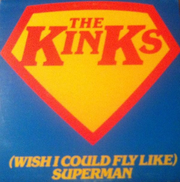 The Kinks ‎– (Wish I Could Fly Like) Superman (single, blue vinyl)