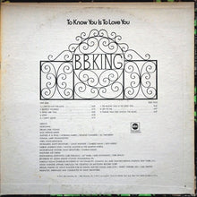 B.B. King ‎– To Know You Is To Love You