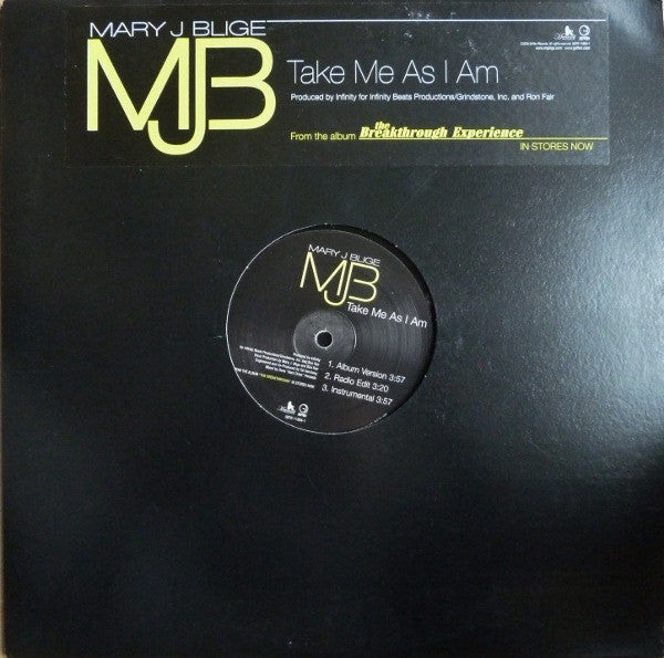 Mary J. Blige ‎– Take Me As I Am