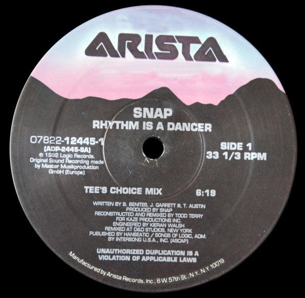Snap* ‎– Rhythm Is A Dancer