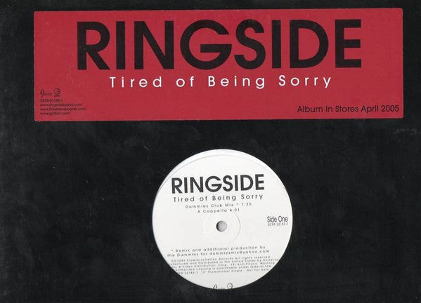 Ringside ‎– Tired Of Being Sorry