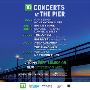 TD Concerts at the Pier - FREE concert series in White Rock!