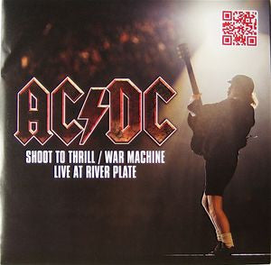 "ACDC - Shoot to Thrill / War Machine Live at River Plate - 7"" single"