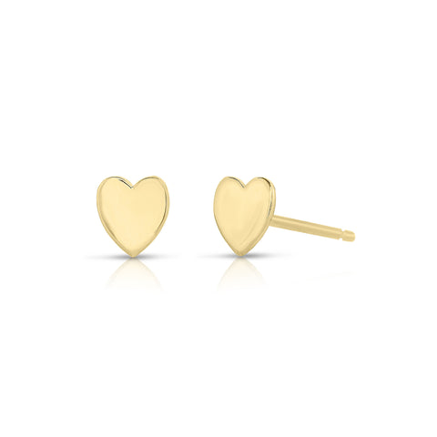 Tiny Heart Earrings 14k