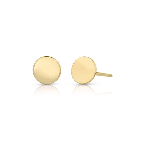 Tiny Disc Earrings 14k - Engraving Optional