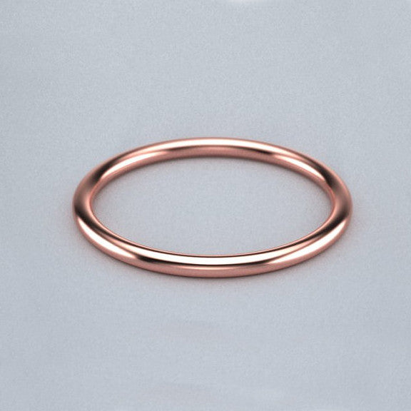 1.5mm Thin Gold Band - Rose Gold – SUZAN DES