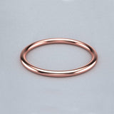 1.5mm Thin Gold Band - Rose Gold