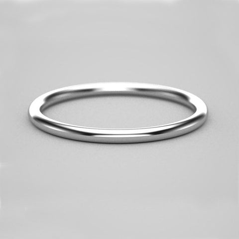 1.5mm Thin Gold Band - 14k White Gold