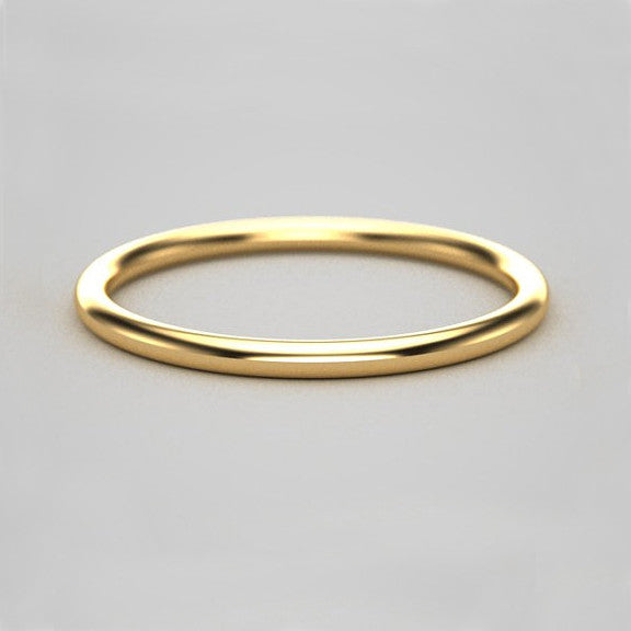 1.5mm Thin Gold Band - 14k Yellow Gold