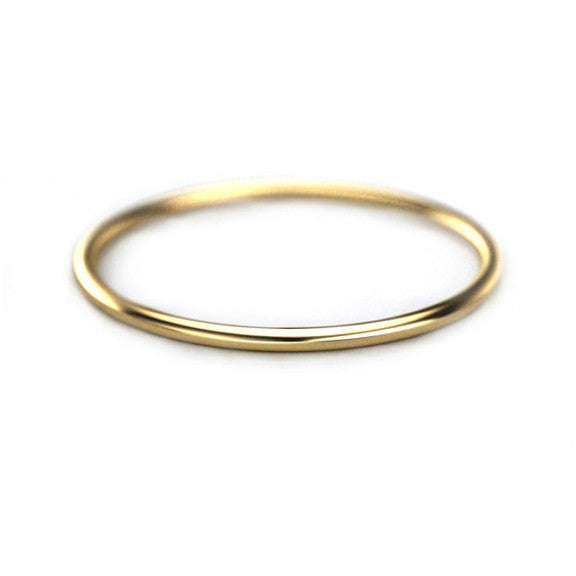 1mm Thin Gold Band - Yellow Gold