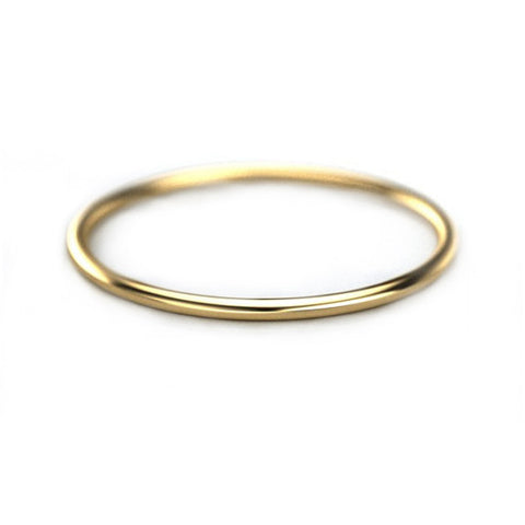 1mm Thin Gold Band - 14k Yellow Gold