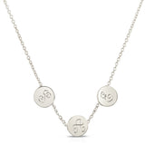 Petite Trinity Disc Necklace - Engraving Available