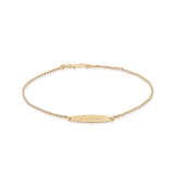 Adult Oval ID Bracelet 14k Gold