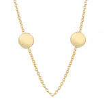 Petite Two-Disc 14k Gold Necklace - Engraving Optional