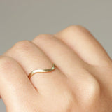Curved Wedding Band 14k - Rose Gold