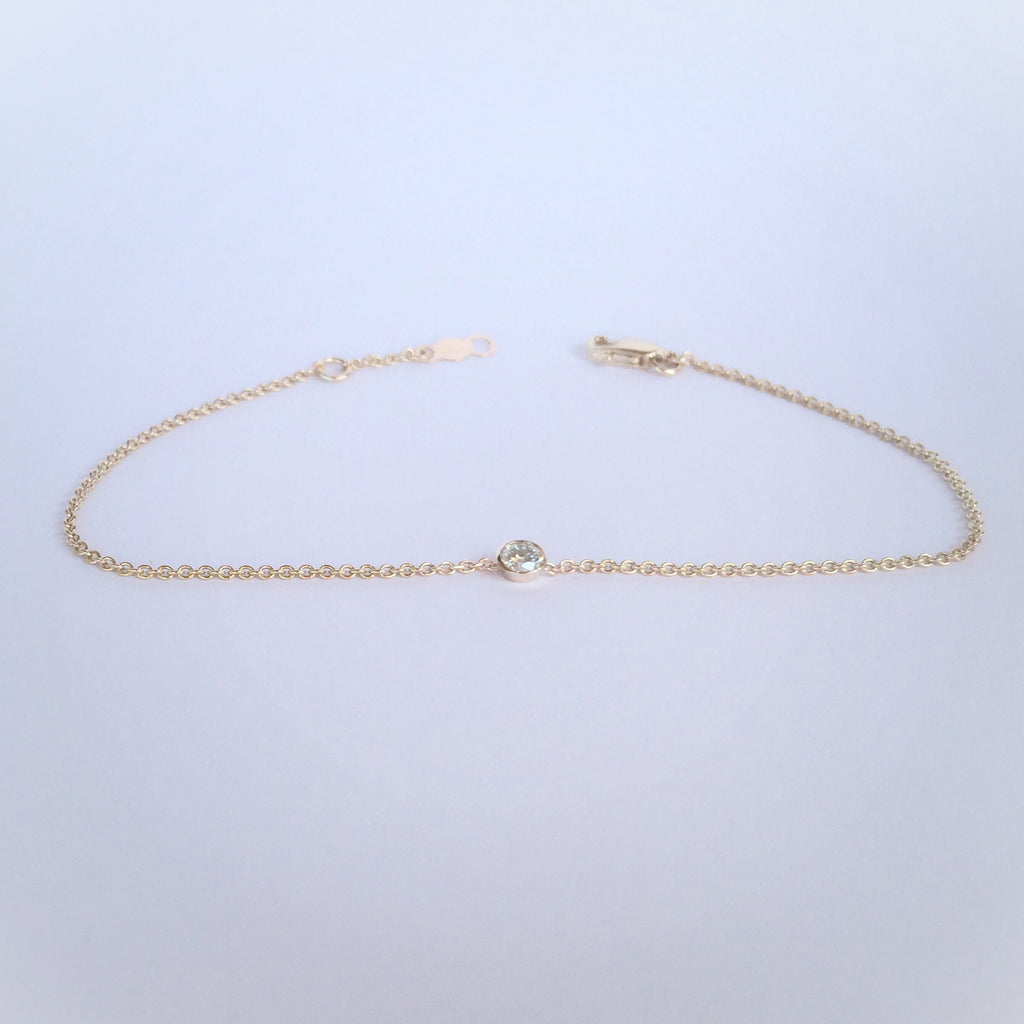 Diamond Bezel Bracelet .10 CT