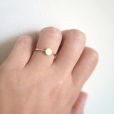 Tiny Disc Ring 14k