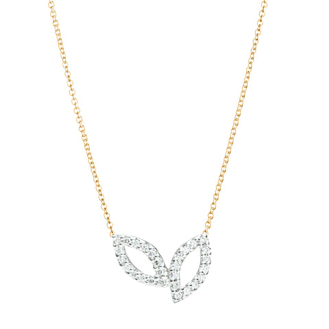 Amorous Diamond Necklace 14k