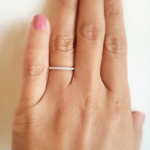 Skinny Eternity Band .50 CT