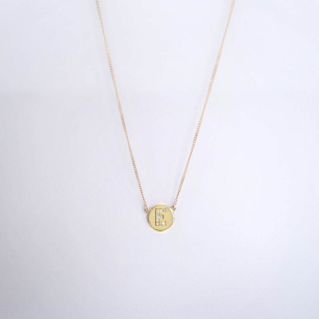 Diamond Letter Pendant Necklace