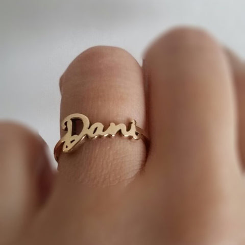 Name Ring 14k Gold