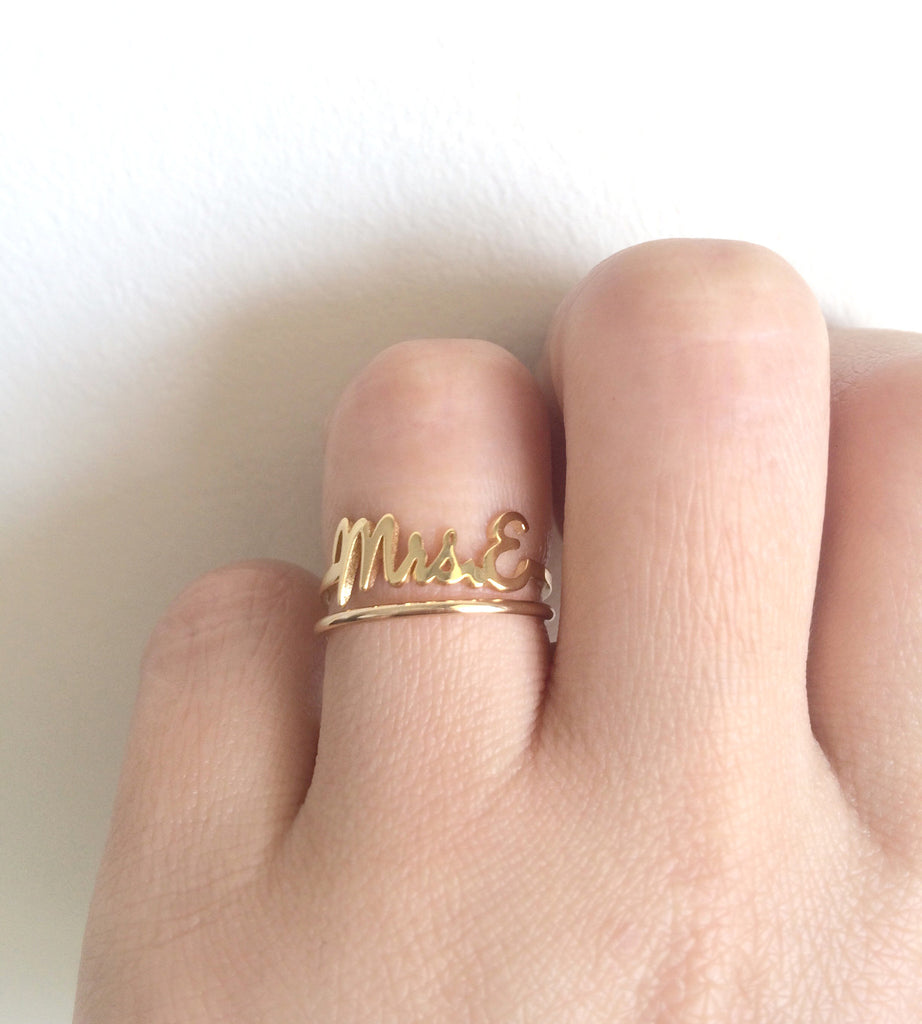 Mrs Ring 14k Gold