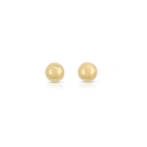 Tiny Ball Stud Earrings 14k
