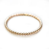 Twist Rope Ring 14k