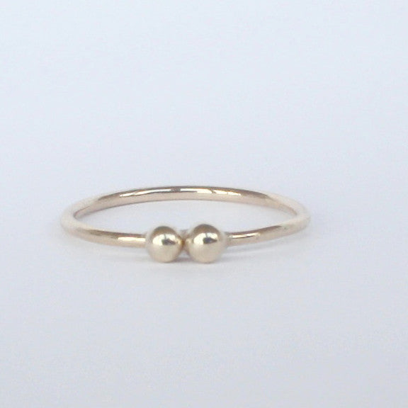You & Me Thin Gold Ring 14k