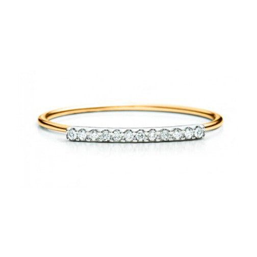 Diamond Bar Ring 14K