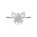 Diamond Butterfly Ring - White Gold