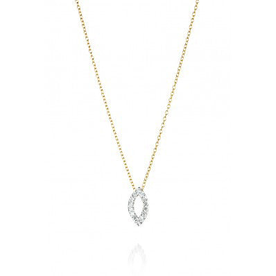 Diamond Leaflet Necklace 14k