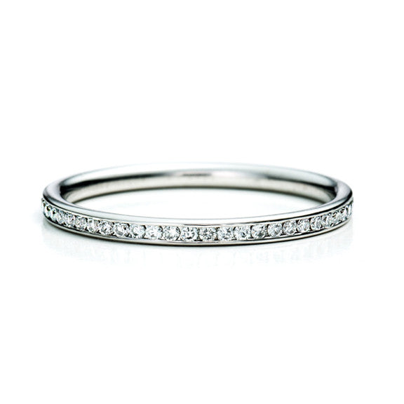 Skinny Channel Band 14K - White Gold