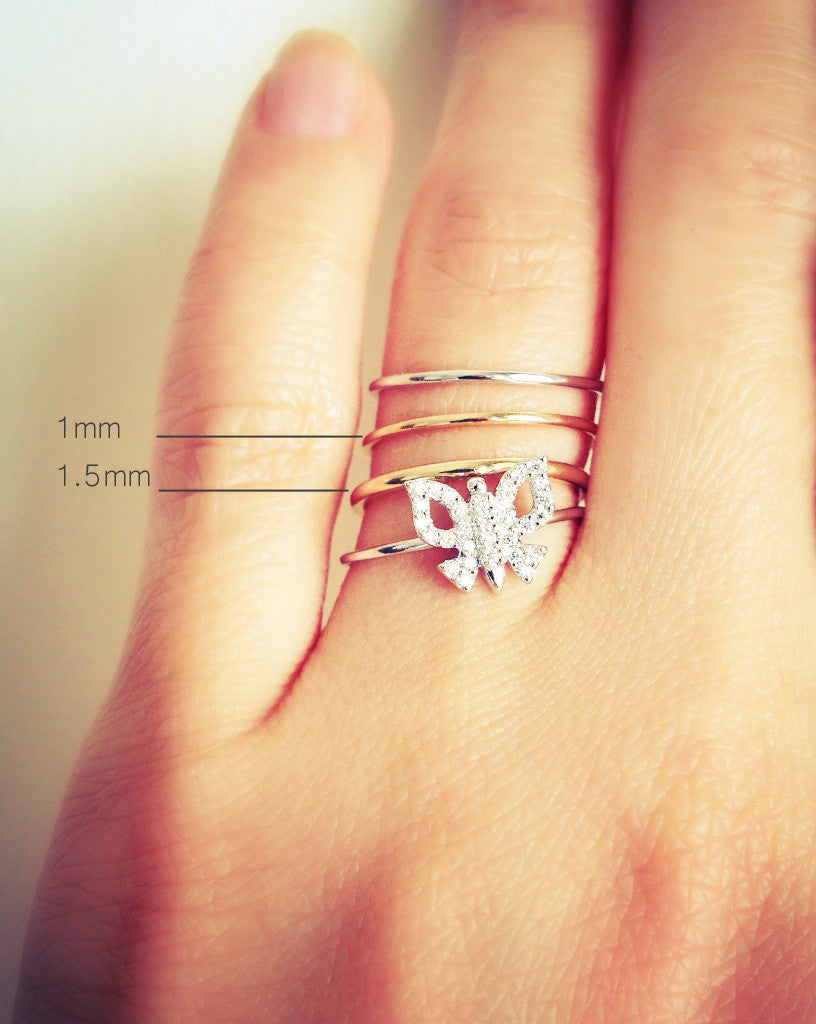 ring rose best band skinny thin engagement of with wedding white hammered gold diamond bands texture