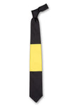 Black & Yellow Block Silk Tie Front