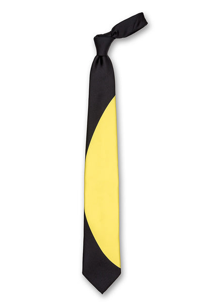 Black & Yellow Eclipse Silk Tie Front