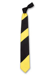 Black & Yellow Striped Silk Tie Front