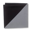 Black and Gray Triangles Pocket Square Folded