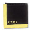 Black and Yellow Edges Pocket Square Folded