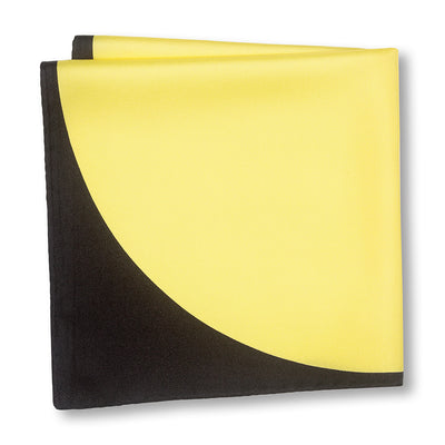 Black and Yellow Sphere Pocket Square Folded