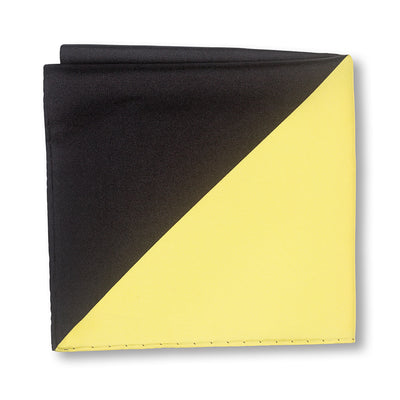Black and Yellow Triangles Pocket Square Folded