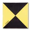 Black and Yellow Triangles Pocket Square Unfolded