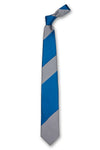 Blue & Gray Striped Silk Tie Front