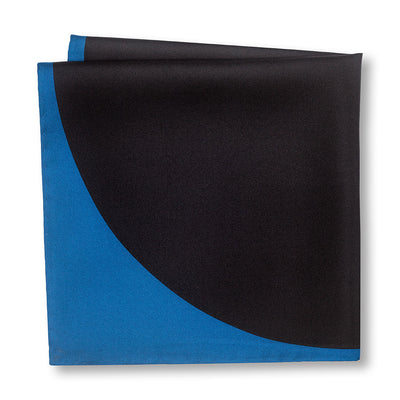 Blue and Black Sphere Pocket Square Back