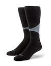 Black Socks with Gray Diamond Design