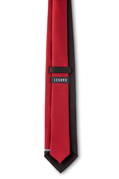 Red Curves Silk Tie Back